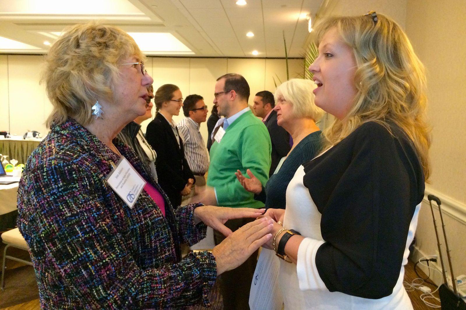 CAS Board members interact at the November 2014 meeting.